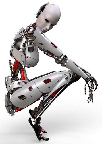 robot woman thinking